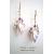 Amethyst Origami Crane Earrings