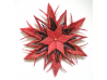 Origami , Paper Star, Holiday Gift, Black, Red, Japanese papers