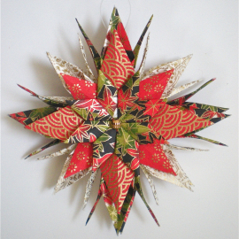 Origami Inspired Holiday Floral Paper Star