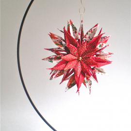 Origami Inspired Red Blossom Paper Star