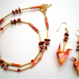 Origami Earring and Necklace set