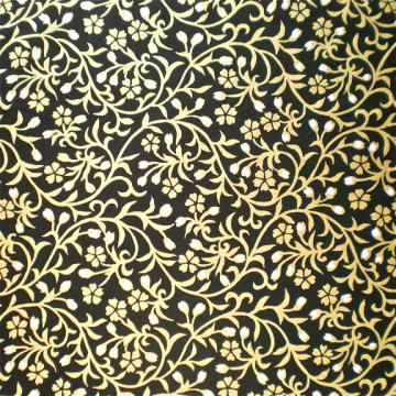 Gold Vine on Black